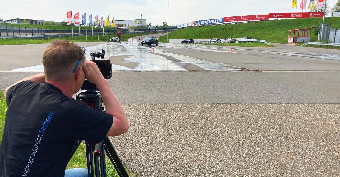Dreharbeiten ADAC Fahrsicherheitszentrum | Videoproduktion Sachsen