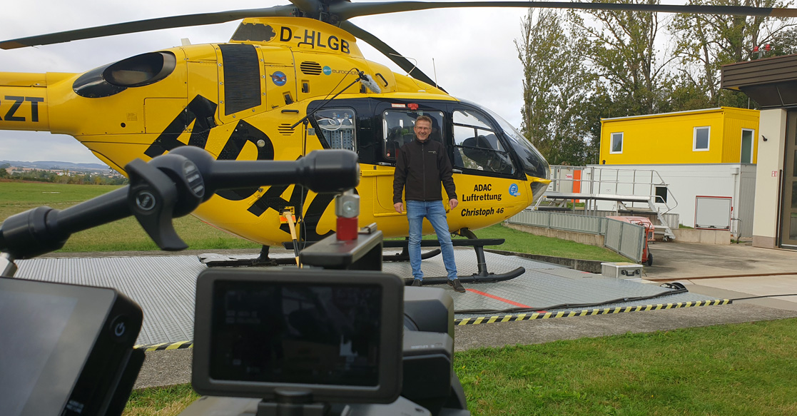Dreharbeiten ADAC Sachsen Luftrettung | Videoproduktion Sachsen