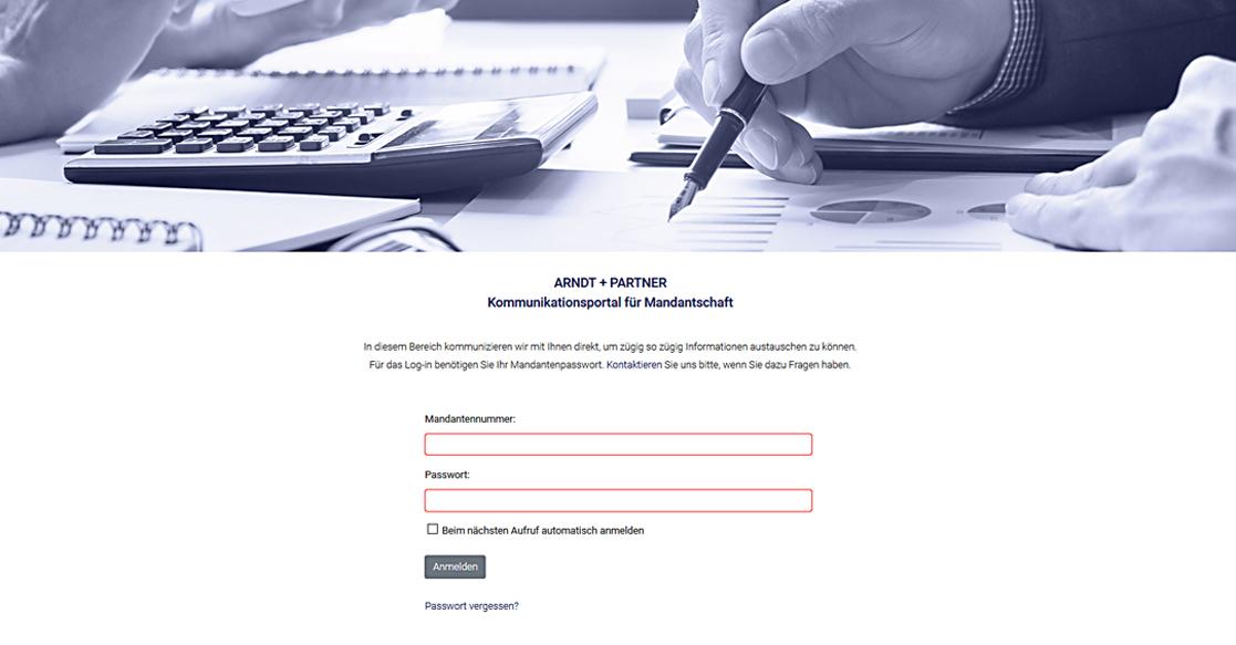 Programmierung Mandantenbereich Arndt + Partner | MUBVideoDesign