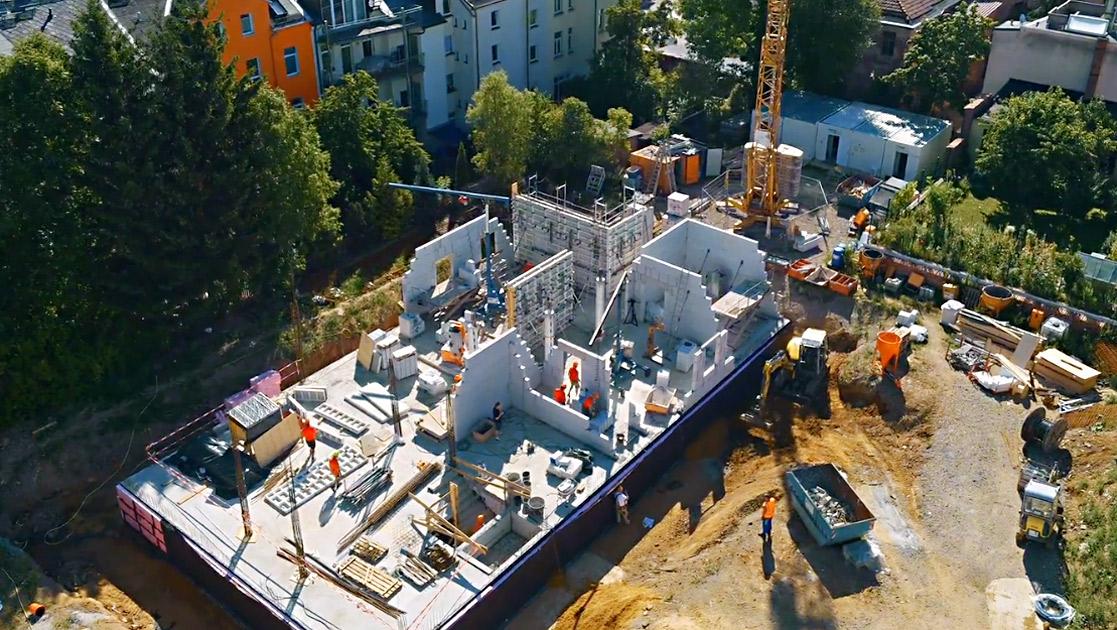 Luftaufnahme Baustelle SSB für Imagefilm | Videoproduktion Sachsen