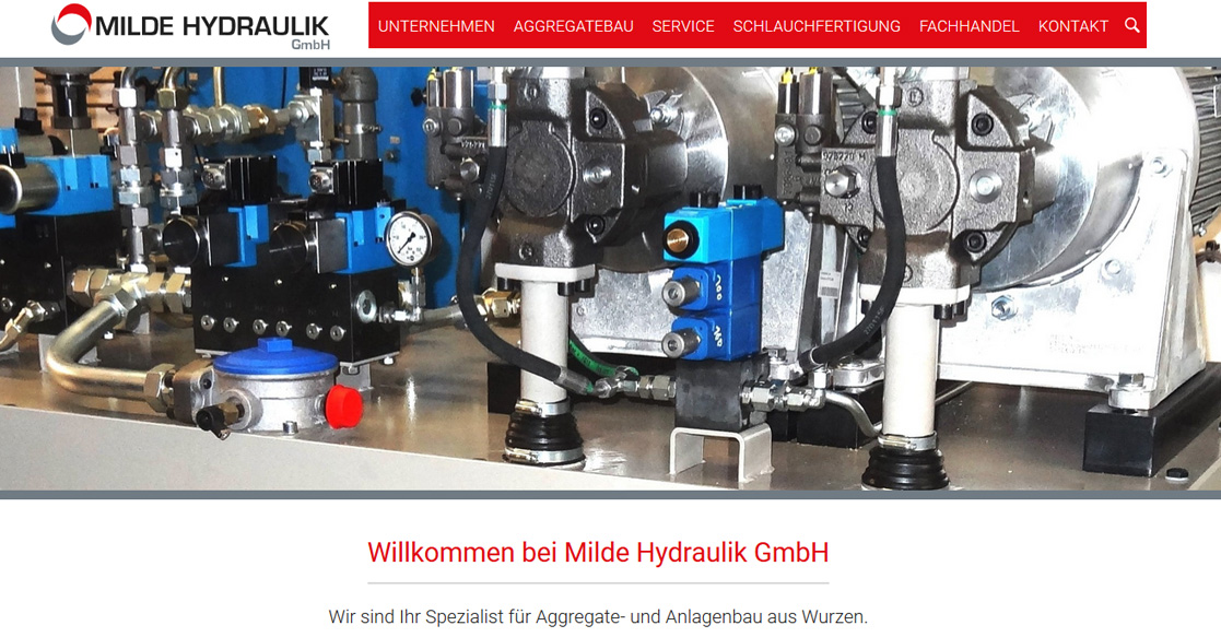 Milde Hydraulik Website-Relaunch | MubVideoDesign