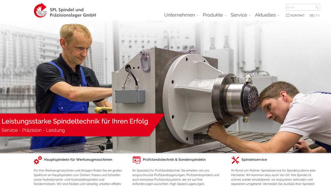Neue Website SPL Spindel und Präszisionslager GmbH | MUBVideoDesign