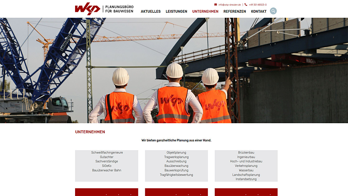 Relaunch Website  WKP | MUBVideoDesign