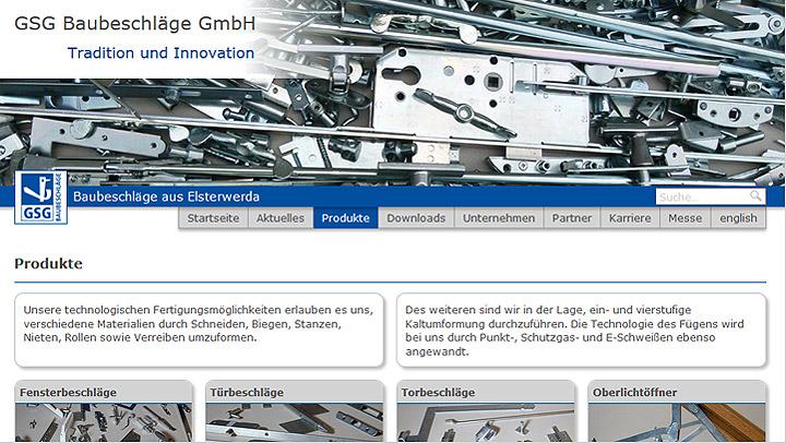 Website GSG Baubeschläge GmbH