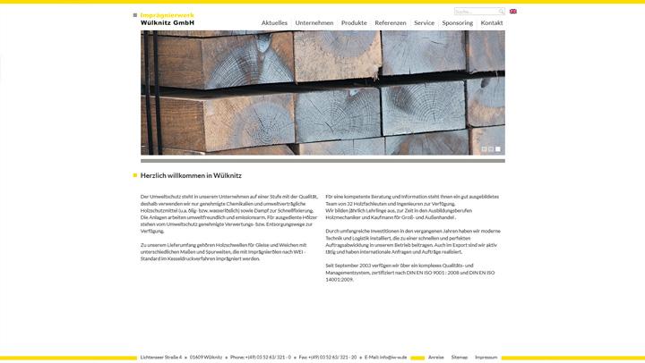 Website für Imprägnierwerk Wüknitz
