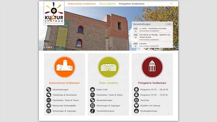 Kulturzentrum mGroßenhain Website