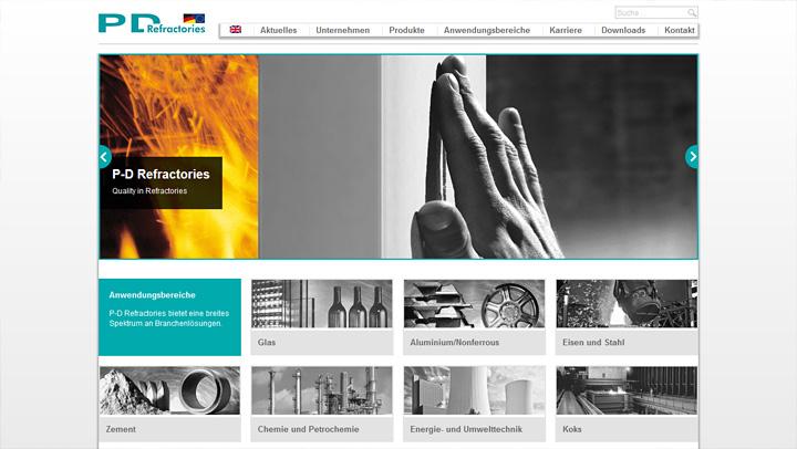 P-D Refractories neue Website online